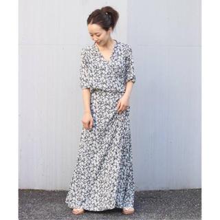 Plage - plage2020SS  olive wrap ドレス
