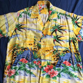 Ron Herman - L 60s PENNEYS 日本製 イエローベース ビンテージ アロハシャツ