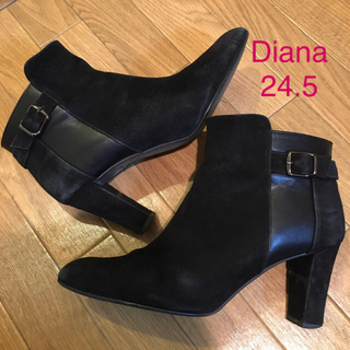 DIANA - Diana ダイアナ スエードブラックショートブーツ