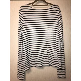 スタイルナンダ(STYLENANDA)のボーダーバックリボンTシャツ stylenanda(Tシャツ(長袖/七分))