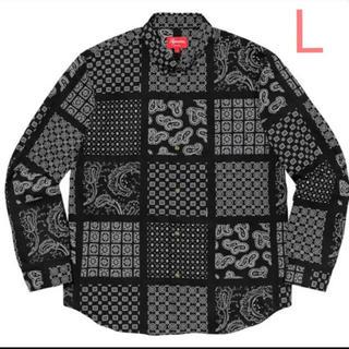 Supreme - supreme paisley grid shirts ペイズリー