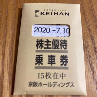 京阪電車 株主優待 乗車券(鉄道乗車券)
