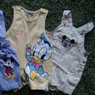 Baby Mickey オーバーオール ★2枚セット★   90cm