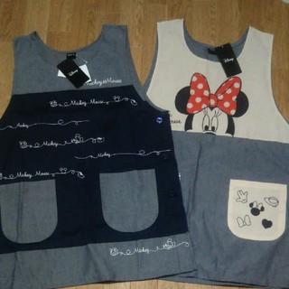 ディズニー(Disney)の2枚セット ミッキー & ミニー ミッキーマウス ミニーマウス 保育士 エプロン(その他)