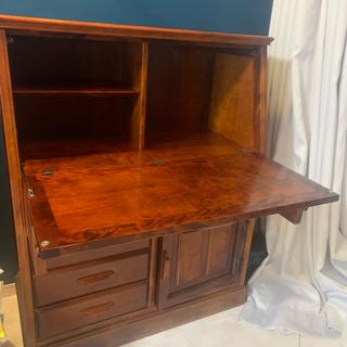 カリモクカグ(カリモク家具)のアンティーク 棚 勉強机 パソコン 化粧台(オフィス/パソコンデスク)