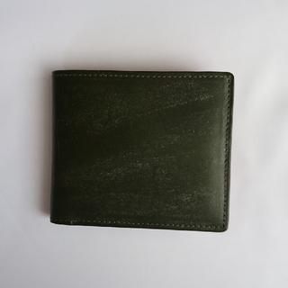 ツチヤカバンセイゾウジョ(土屋鞄製造所)の土屋鞄製造所  二つ折り財布 ダークグリーン ブライドルレザー(折り財布)