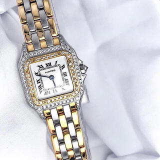 Cartier - 【仕上済】カルティエ パンテール コンビ ダイヤ レディース 腕時計