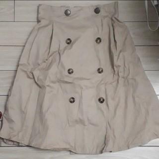 シマムラ(しまむら)の前ボタンスカート ベージュ トレンチスカート(ひざ丈スカート)