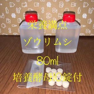 ゾウリムシ80ml+培養酵母10錠(ペットフード)