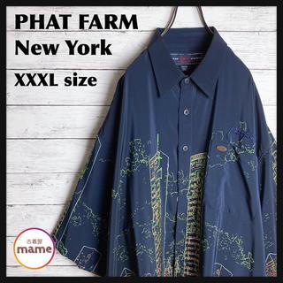 【激レア‼︎】PHAT FARM NY◎超ビッグサイズ 90s 半袖 総柄シャツ(シャツ)