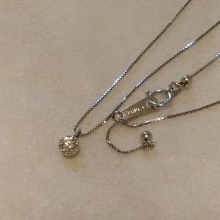 K18ダイヤモンド0.2カラットネックレス