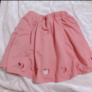 スピンズ(SPINNS)の(12) ハート くり抜き スカート 量産 夢可愛い ジャニオタ(ひざ丈スカート)