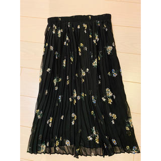 ZARA - 【未使用】ZARA花柄プリーツスカート 花柄ロングスカート
