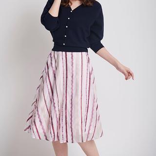 Noela - ノエラ ストライプ刺繍 スカート