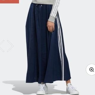 アディダス(adidas)の【値下げしました!】adidas サテンスカート(ロングスカート)