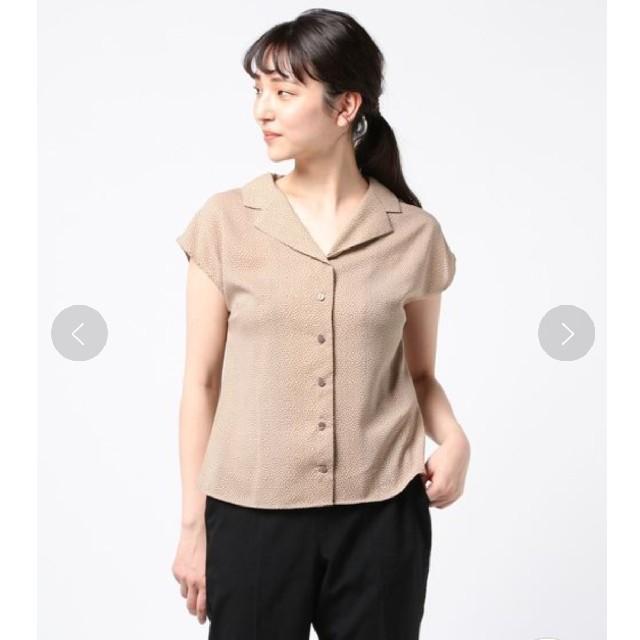Techichi(テチチ)のTe chichi ドットプリント開襟ブラウス レディースのトップス(シャツ/ブラウス(半袖/袖なし))の商品写真