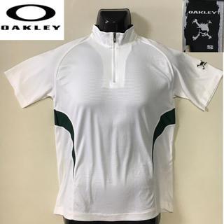 オークリー(Oakley)のオークリー ゴルフ スポーツシャツ ポロシャツ ホワイト  Sサイズ(ウエア)