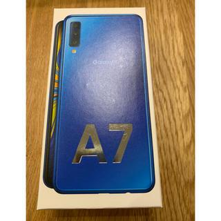 ギャラクシー(Galaxy)のGalaxy A7 ブルー 本体 新品未開封 simフリー ギャラクシーA7(携帯電話本体)
