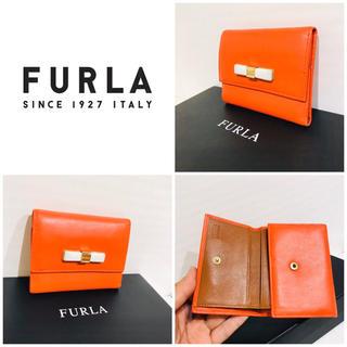 Furla - 箱と保存袋付き■大丸購入■本革■リボン■フルラ FURLA Wホック財布