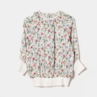 ANAYI - 今期新品♡ANAYIボタニカルフラワープリントギャザープルオーバー♡36サイズ