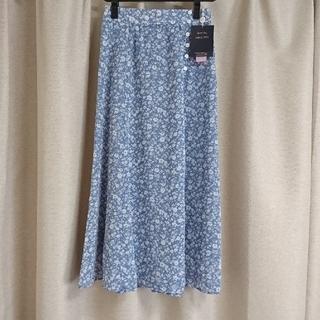 JUSGLITTY - ブルー 花柄 ロングスカート