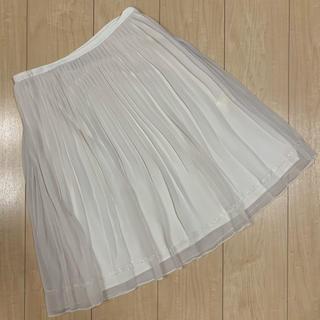 アンタイトル(UNTITLED)のアンタイトル★シフォンスカート★ホワイト♡Mサイズ相当(ひざ丈スカート)