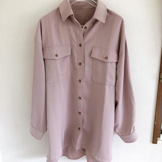 ViS - ビス VIS  ピンクグレー シャツ