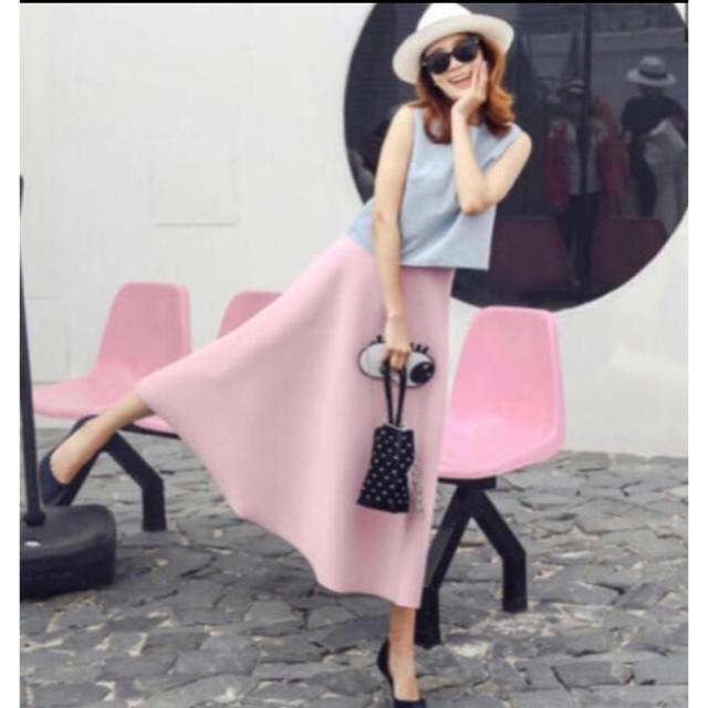 ZARA(ザラ)のバースデーバッシュのサクラ色 ボンディングスカート レディースのスカート(ロングスカート)の商品写真