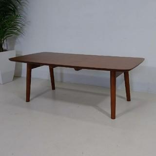 折りたたみセンターテーブル ウォールナット(ローテーブル)