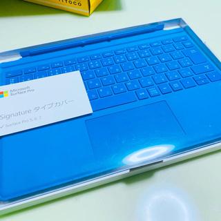 マイクロソフト(Microsoft)のマイクロソフト 【純正】 Surface Pro タイプカバー ブルー(PC周辺機器)