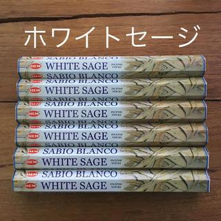 送料無料 新品 お香 HEM ホワイトセージ 6箱セット(お香/香炉)