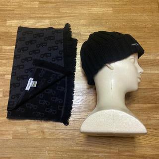 ドルチェアンドガッバーナ(DOLCE&GABBANA)のドルガバニット帽 マフラーセット正規品(ニット帽/ビーニー)