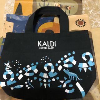 カルディ(KALDI)のカルディ トートバッグ(厚手生地)黒(トートバッグ)