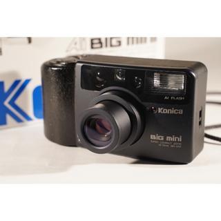 コニカミノルタ(KONICA MINOLTA)の最終価格 フィルムカメラ コニカ Konica BIG MINI元箱 説明書付き(フィルムカメラ)