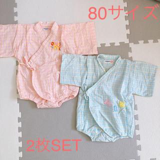 ミキハウス(mikihouse)のミキハウス 甚平 レトロ 80(甚平/浴衣)