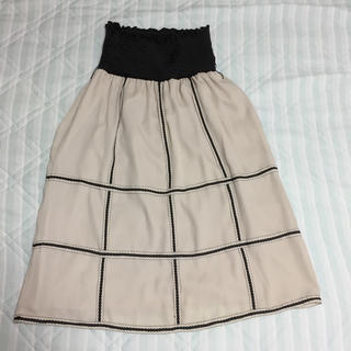 GRACE CONTINENTAL - GRACE CONTNENTAL ハイウエストゴムのオフホワイトスカート 36