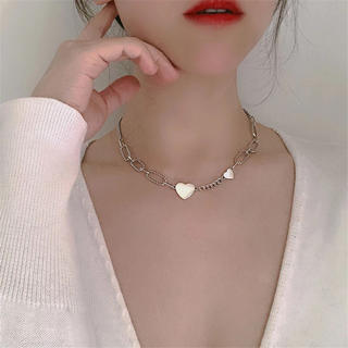 snidel - 新品未使用silver heart chain necklace★韓国アクセサリ