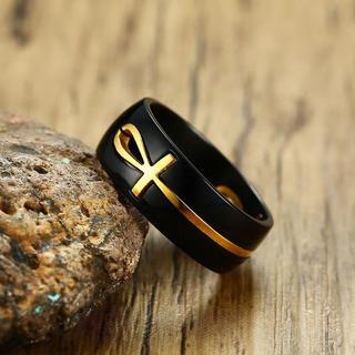 特価高品質!ラテンエンブレムのゴシックリング  15、16号相当(リング(指輪))