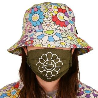 村上隆 Flower Mask  Moss green(WH) L お花マスク(その他)