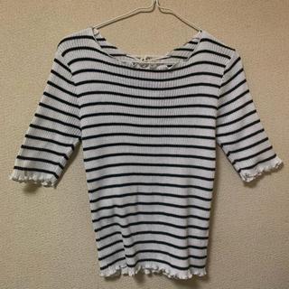 エムズエキサイト(EMSEXCITE)のトップス ボーダー Tシャツ 半袖 (Tシャツ(半袖/袖なし))