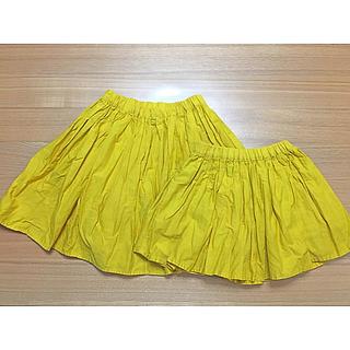 グローバルワーク(GLOBAL WORK)のグローバルワーク♪スカート黄色キッズXL&S(スカート)