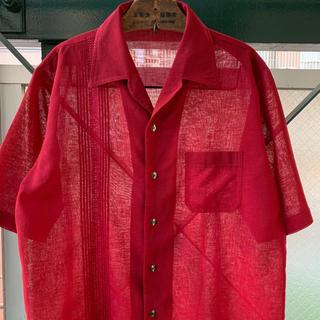 ART VINTAGE - 90s 古着 デザインシャツ アシンメトリー 透け感 シースルー 日本製 個性派