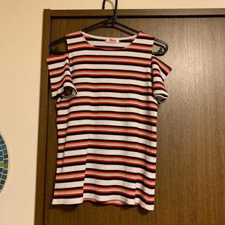 イングファースト(INGNI First)のマルチボーダーリブトップス(Tシャツ/カットソー)