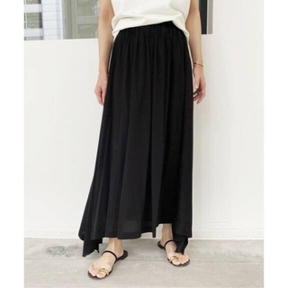 L'Appartement DEUXIEME CLASSE - 新品  アパルトモン Jersey Gather Skirt ブラック 36