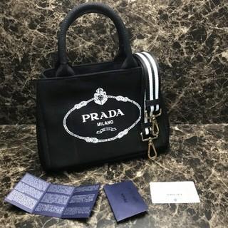 PRADA - プラダ 2WAY カナパ バッグ ストライブネロブラック