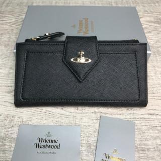 Vivienne Westwood - Vivienne Westwood◆ レザー 長財布 二つ折り財布 ブラック