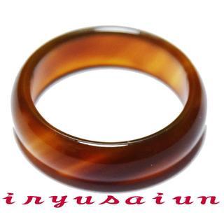 天然石瑪瑙(メノウ)リング (16号)男女兼用 メンズ・レディース指輪UT108(リング(指輪))