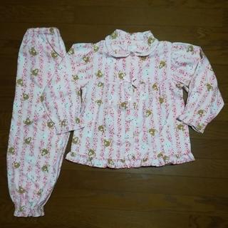 サンリオ - シュガーバニーズ 長袖長ズポン女子パジャマ (130) 中古品