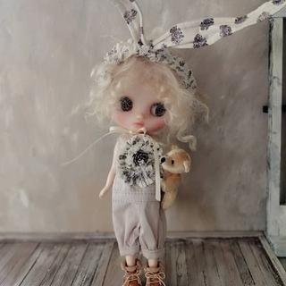 pippi.phoo ミディブライスアウトフィット ウサ耳ロンパ1(人形)