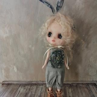 pippi.phoo ミディブライスアウトフィット ウサ耳ロンパ2 (人形)